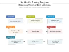 Six Months Training Program Roadmap With Content Selection Download