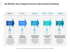 Six Months User Support Service Improvement Roadmap Introduction