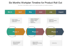 Six Months Workplan Timeline For Product Roll Out Guidelines