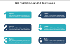 Six Numbers List And Text Boxes Ppt PowerPoint Presentation Infographics Graphic Tips