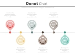 Six Pointers Percentage Timeline Diagram Powerpoint Slides