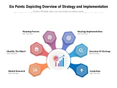 Six Points Depicting Overview Of Strategy And Implementation Ppt PowerPoint Presentation File Show PDF