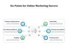 Six Points For Online Marketing Success Ppt PowerPoint Presentation Portfolio Graphic Images PDF