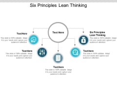 Six Principles Lean Thinking Ppt PowerPoint Presentation Professional Gallery Cpb