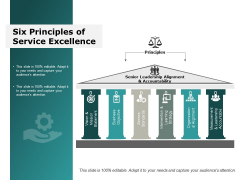 Six Principles Of Service Excellence Ppt Powerpoint Presentation Inspiration Visuals