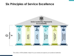 Six Principles Of Service Excellence Ppt PowerPoint Presentation Styles Slide Portrait