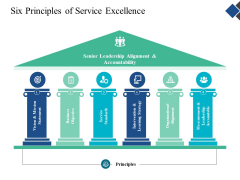 Six Principles Of Service Excellence Ppt Powerpoint Presentation Visual Aids Example File