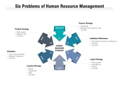 Six Problems Of Human Resource Management Ppt PowerPoint Presentation Styles Portrait