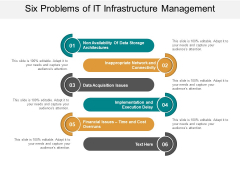 Six Problems Of It Infrastructure Management Ppt Powerpoint Presentation Styles Graphic Images
