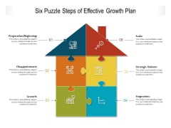 Six Puzzle Steps Of Effective Growth Plan Ppt PowerPoint Presentation Infographic Template Template PDF