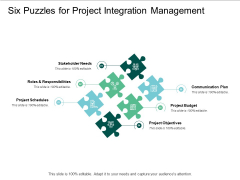 Six Puzzles For Project Integration Management Ppt PowerPoint Presentation Layouts Templates