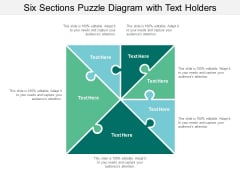six sections puzzle diagram with text holders ppt powerpoint presentation layouts layout ideas