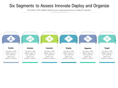 Six Segments To Assess Innovate Deploy And Organize Ppt PowerPoint Presentation Gallery Backgrounds PDF