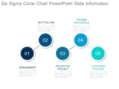 Six Sigma Circle Chart Powerpoint Slide Information
