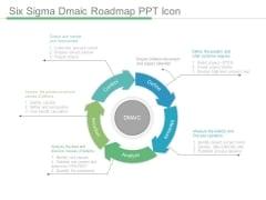 Six Sigma Dmaic Roadmap Ppt Icon