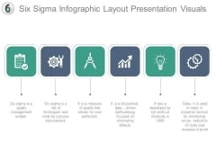 Six Sigma Infographic Layout Presentation Visuals