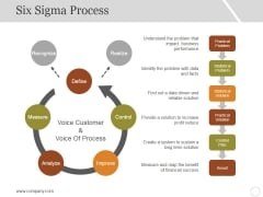 Six Sigma Process Ppt PowerPoint Presentation Layouts Diagrams