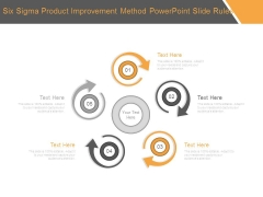Six Sigma Product Improvement Method Powerpoint Slide Rules