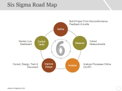 Six Sigma Road Map Ppt PowerPoint Presentation Styles Template