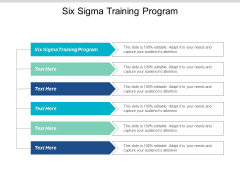 Six Sigma Training Program Ppt PowerPoint Presentation Professional Background Images Cpb