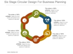 Six Stage Circular Design For Business Planning Powerpoint Themes