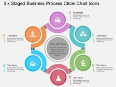 Six Staged Business Process Circle Chart Icons Powerpoint Template