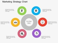 Six Staged Marketing Strategy Chart Powerpoint Template