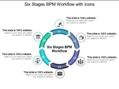 Six Stages Bpm Workflow With Icons Ppt PowerPoint Presentation Ideas Brochure