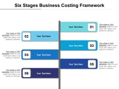 Six Stages Business Costing Framework Ppt PowerPoint Presentation File Designs PDF