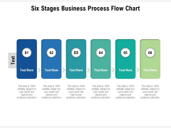 Six Stages Business Process Flow Chart Ppt PowerPoint Presentation File Inspiration PDF