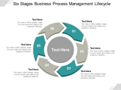 Six Stages Business Process Management Lifecycle Ppt Powerpoint Presentation Gallery Format