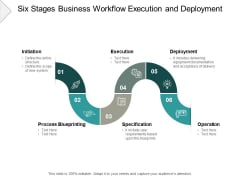 Six Stages Business Workflow Execution And Deployment Ppt PowerPoint Presentation Infographic Template Grid