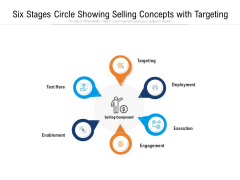 Six Stages Circle Showing Selling Concepts With Targeting Ppt PowerPoint Presentation Gallery Graphics Template PDF