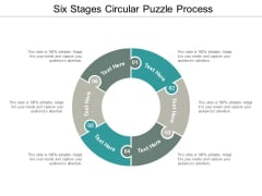 six stages circular puzzle process ppt powerpoint presentation professional example introduction