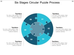 Six Stages Circular Puzzle Process Ppt PowerPoint Presentation Summary Aids