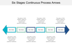 Six Stages Continuous Process Arrows Ppt PowerPoint Presentation Gallery Information