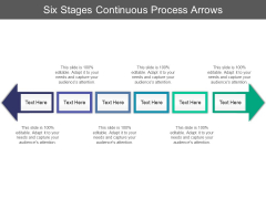 Six Stages Continuous Process Arrows Ppt PowerPoint Presentation Styles Topics