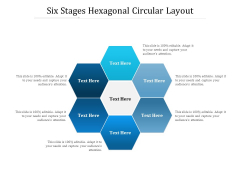 Six Stages Hexagonal Circular Layout Ppt PowerPoint Presentation File Pictures PDF