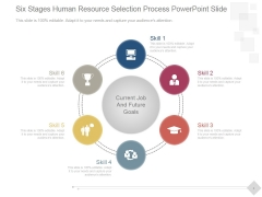 Six Stages Human Resource Selection Process Ppt PowerPoint Presentation Layout