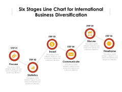Six Stages Line Chart For International Business Diversification Ppt PowerPoint Presentation Infographic Template Professional PDF