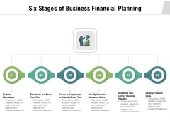 Six Stages Of Business Financial Planning Ppt PowerPoint Presentation Example 2015 PDF