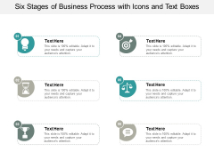 Six Stages Of Business Process With Icons And Text Boxes Ppt PowerPoint Presentation Gallery Show