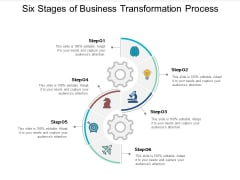 Six Stages Of Business Transformation Process Ppt PowerPoint Presentation Infographics Model
