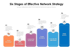 Six Stages Of Effective Network Strategy Ppt PowerPoint Presentation File Inspiration PDF