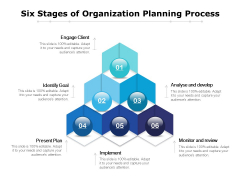 Six Stages Of Organization Planning Process Ppt PowerPoint Presentation File Example PDF