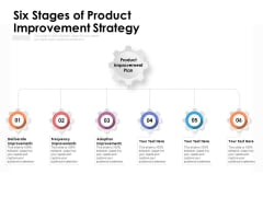 Six Stages Of Product Improvement Strategy Ppt PowerPoint Presentation Show Brochure PDF