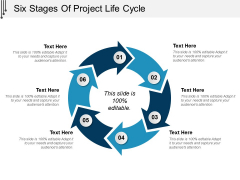 Six Stages Of Project Life Cycle Ppt PowerPoint Presentation Pictures Elements