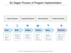 Six Stages Process Of Program Implementation Ppt PowerPoint Presentation Summary Files