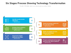 Six Stages Process Showing Technology Transformation Ppt PowerPoint Presentation Show Slide Download PDF