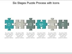Six Stages Puzzle Process With Icons Ppt Powerpoint Presentation Infographic Template Outfit
